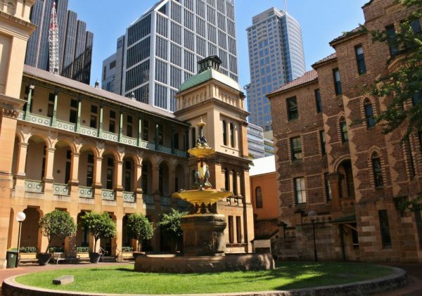 Sydney Hospital Grounds and Fountain