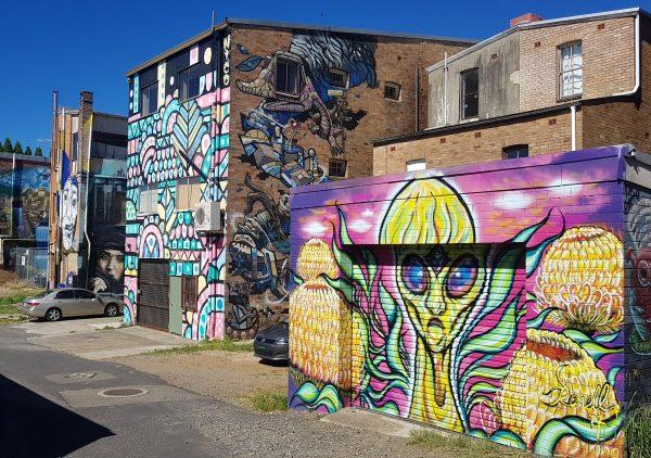 Katoomba murals in Beverley Place