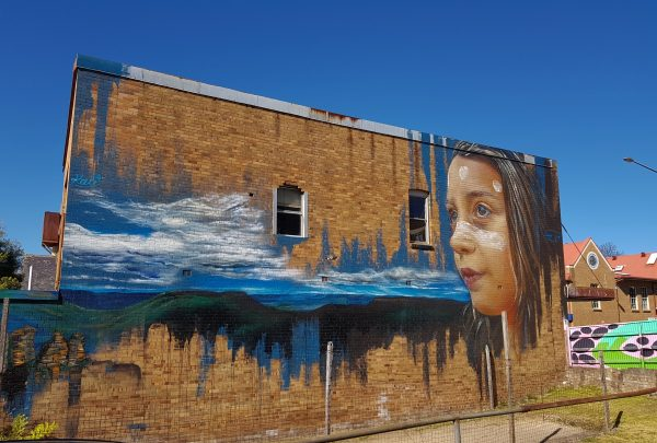 Katoomba Street Art Walk girl