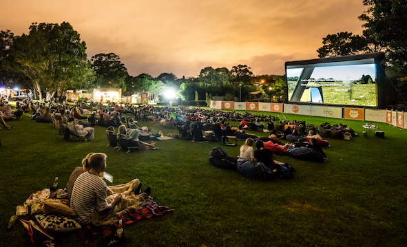 Outdoor cinema at North Sydney oval