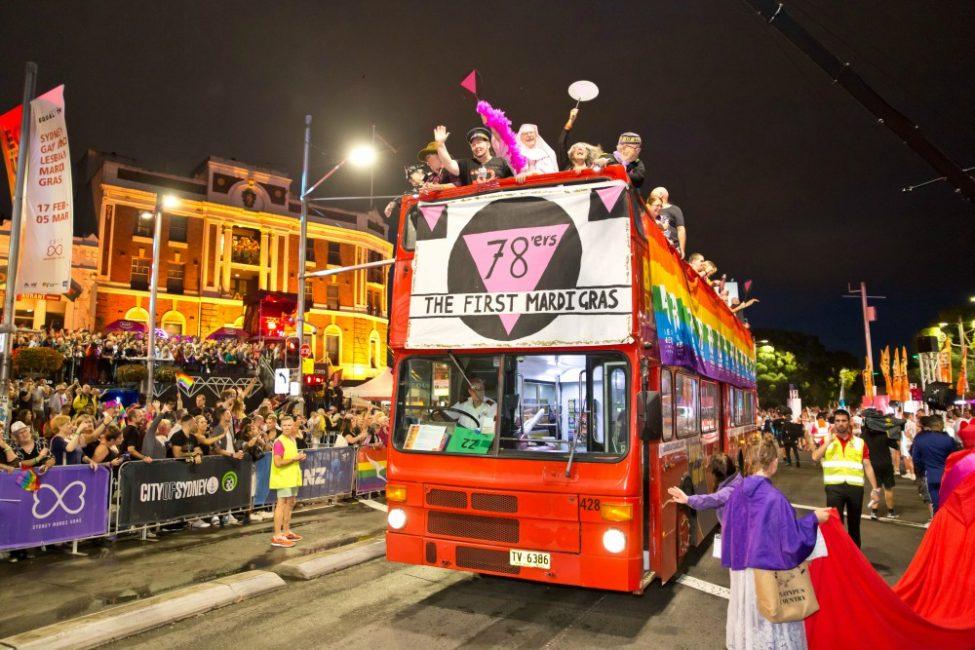 The 1978er's bus Sydney Gay and Lesbian Mardi Gras