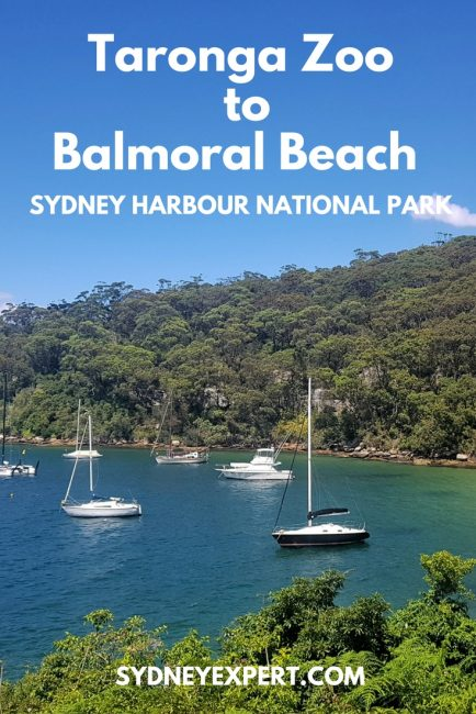 This section of track between Taronga Zoo Wharf and Balmoral Beach is one of the best inner city
