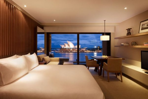 Hotel room with view of Sydney Opera House
