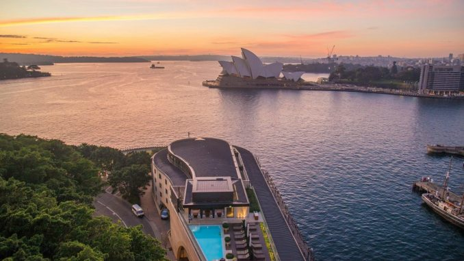 Park Hyatt Hotel Pool overlooking Sydney Opera House