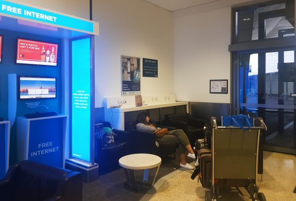 Sleeping at Sydney airport
