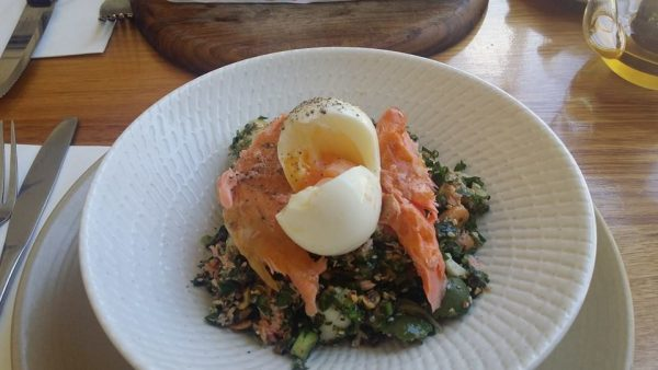Keppos Street Kitchen Wood fired smoked salmon salad