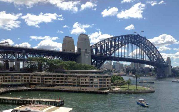 Park Hyatt The Rocks Sydney under the harbour bridge