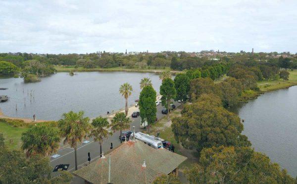 Aerial View Centennial park Sydney