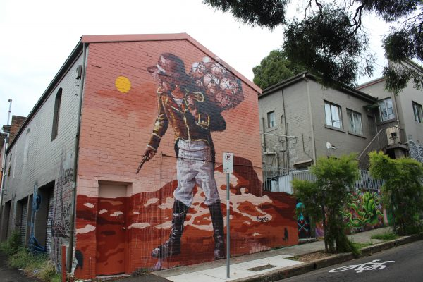 Street Art Sydney large scale mural in Marrickville Enmore