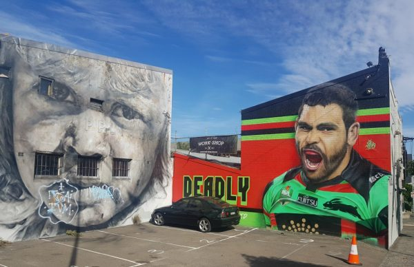 Greg Inglis by Sid Tapia in Redfern