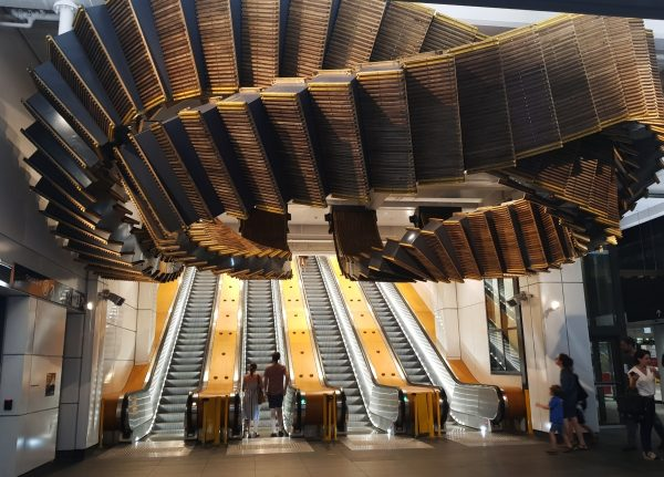 Escalator Sculpture Wynyard Station