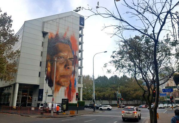 Street art Sydney CBD Adnate Jenni Munro