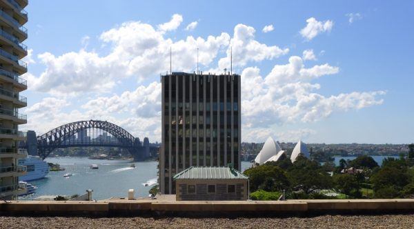 View from the rooftop of the Sir Stanford Hotel Circular Quay