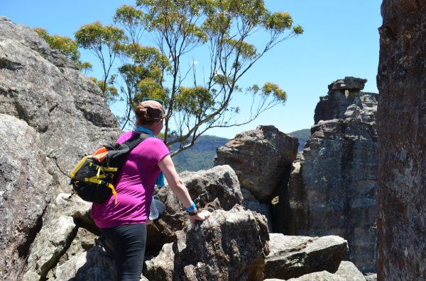 Climbing to the ruined castle