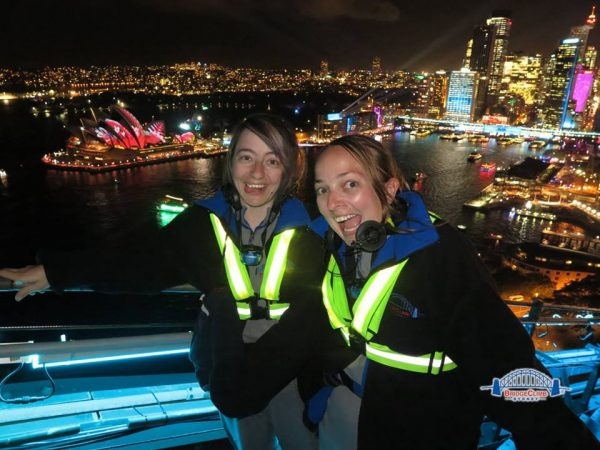 Night time view on the Sydney Bridgeclimb