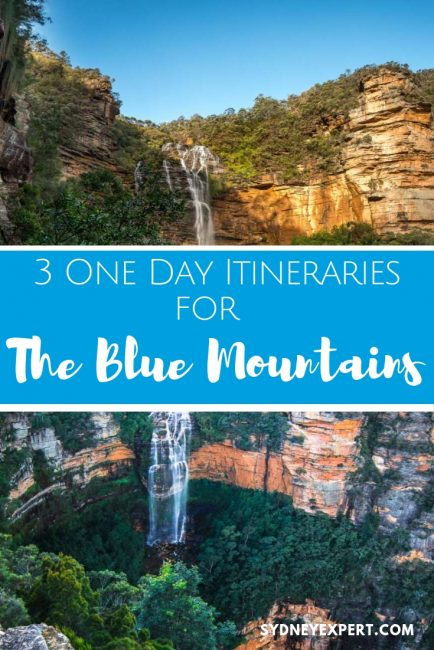 Helpful advice and 3 self-guided itineraries for planning a visit to the Blue Mountains using public transport or the Hop on Hop off bus.  This is one of the best things to do on your visit to Sydney. #Australia #Sydney