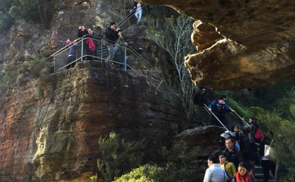 Walk down to the Three Sisters on your one day in the blue mountains