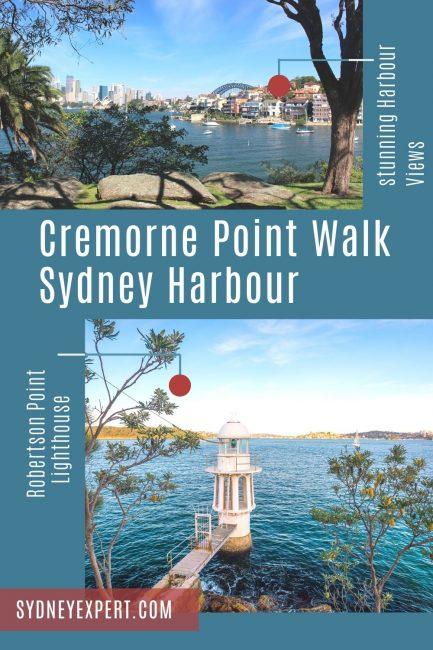 Cremorne Point walk robertson lighthouse