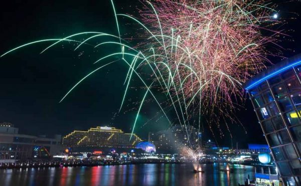 Darling Harbour free fireworks show