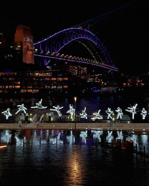 Vivid Sydney Ballerina Installation 2019