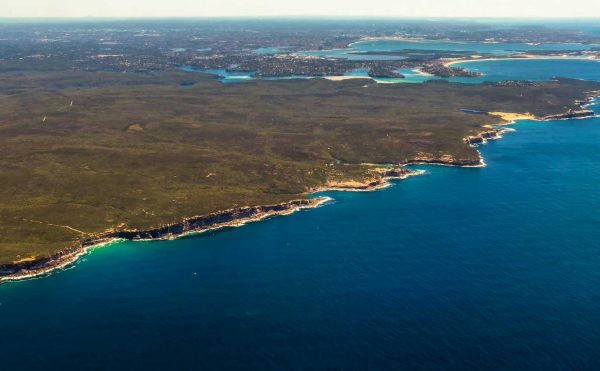 The coastline in the Royal National Park great for Whale Watching