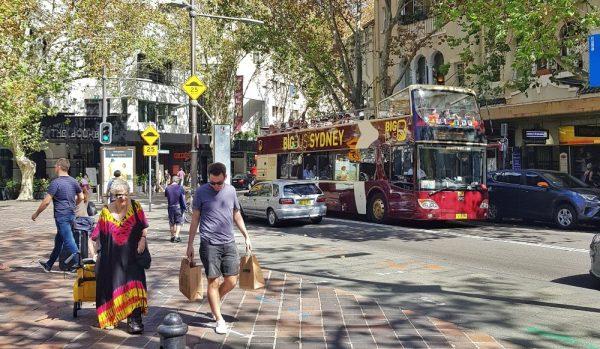 Sydney HOHO Bus in Kings Cross Australia