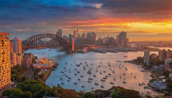 View from Milsons Point to the City