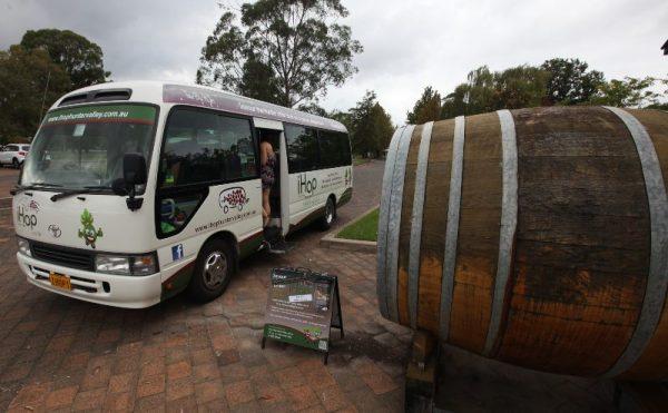 iHop bus stop in the hunter valley NSW