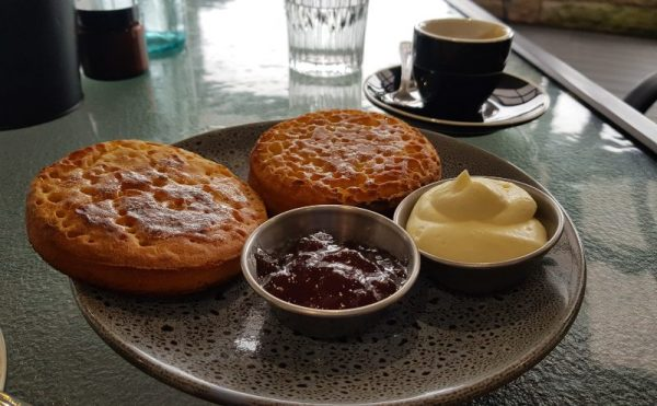 House made crumpets at Fawk Foods