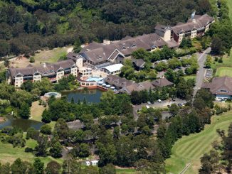 Blue Mountains resort in leura from above