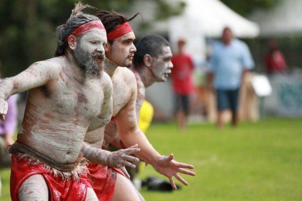 aboriginal australian in traditional dress Sydney