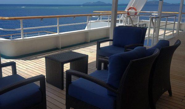 Deck area on Reef Endeavour Fiji Cruise