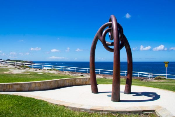 Bali Memorial Sculpture at Coogee Headland by artist Sasha Reid