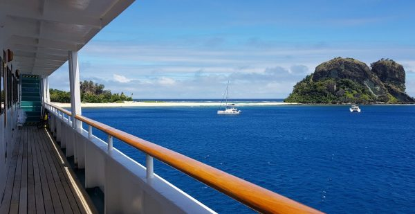 View from our cabin door Captain Cook Fiji Cruise