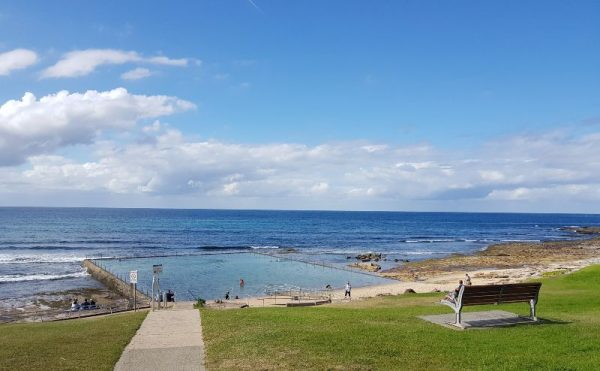 Cronulla Shelly Beach ocean pool on coastal walk path