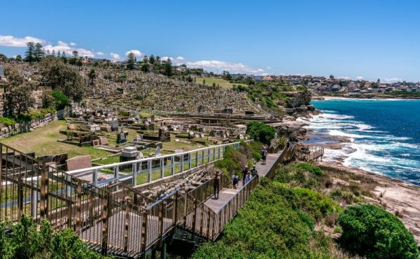 Waverly Cemetery Walk path Bronte to Coogee