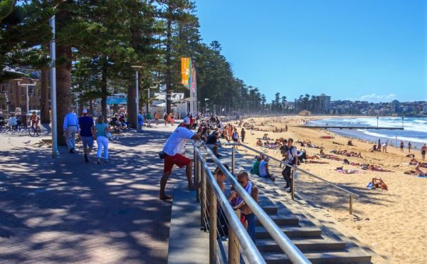 Manly Beach walkway along waterfront