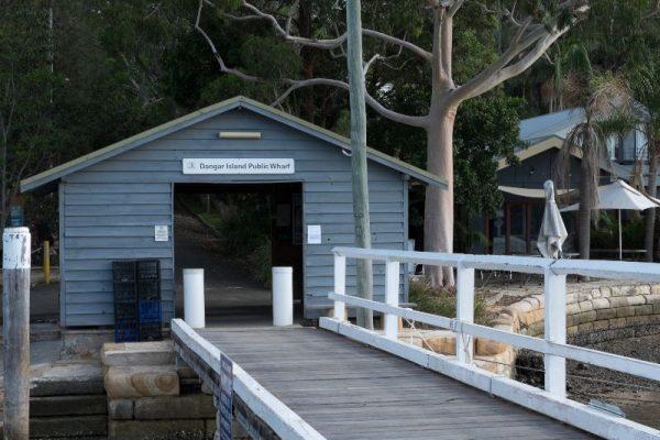 Dangar Island public wharf north of Sydney