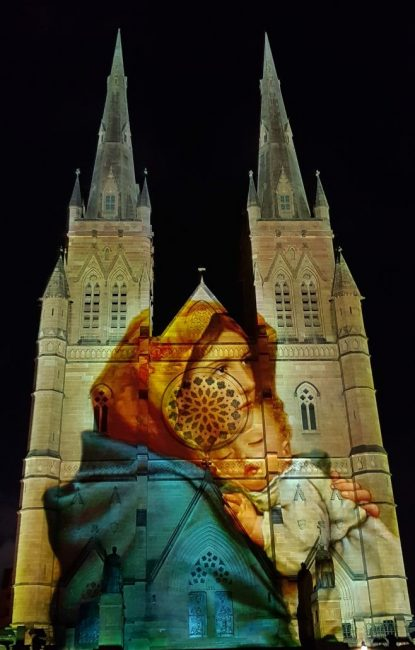 Christmas LIghts at St Marys Cathedral
