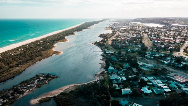 Lakes Entrance from Above