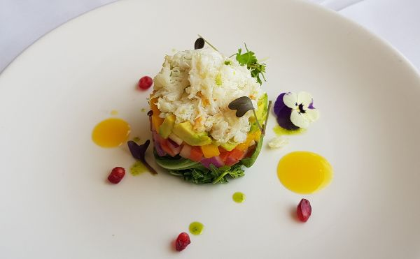 Paddock to Claw crab entree Captain Cook Gold Lunch