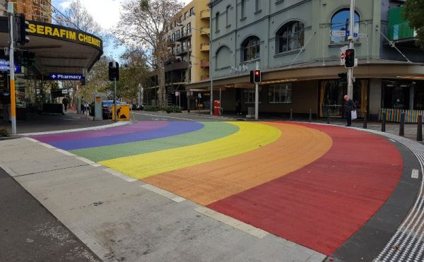 Rainbow crossing Darlinghurst