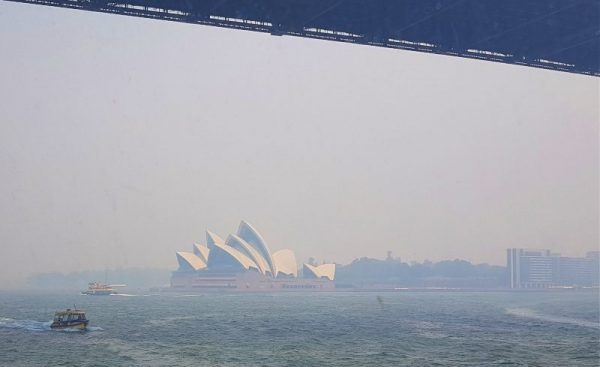 Bushfire smoke in Sydney