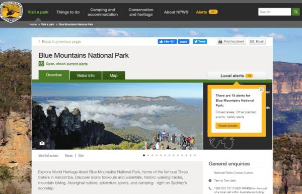NSW National Park warnings