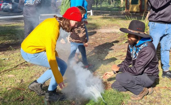 Timbery's Cultural smoking ceremony