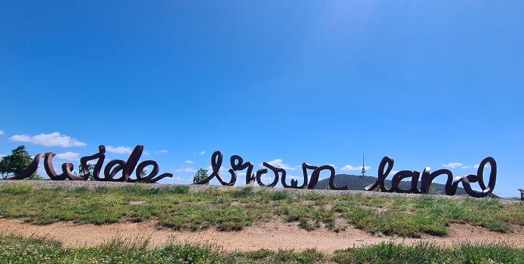 Wide Brown Land Sculpture Canberra