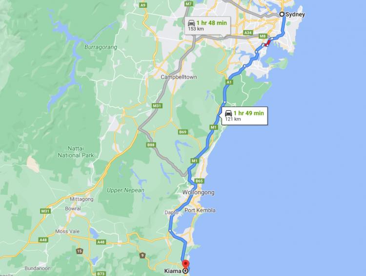 Kiama Sydney Map