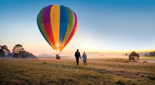 Red Balloon Hunter Valley Hot Air Balloon flight