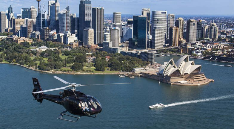 Helicopter Sydney Harbour Red Balloon