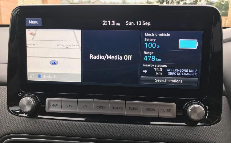 Electric car information panel